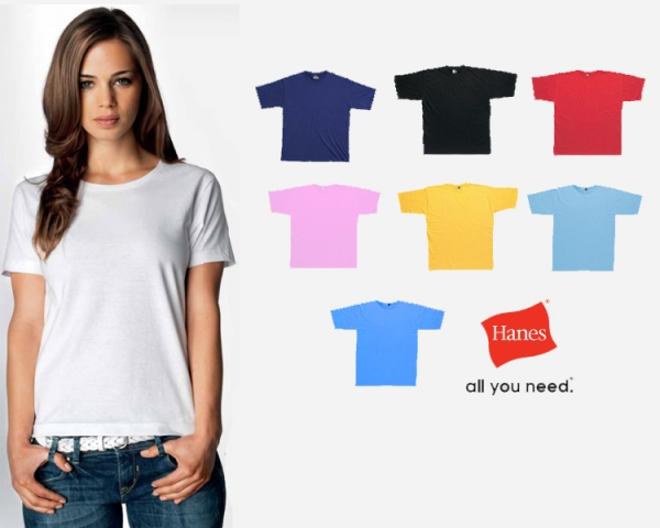 Ladies Promotional T Shirts Screen Printed With Your Logo