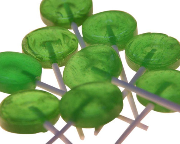 PL028 Green Lollipops