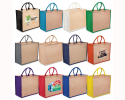 JJT031 - Two tone coloured Jute Bags