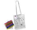 CJB020 - Kids Long handle colouring bag with Crayo