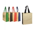 JJT006 The Contrast Jute Tote Bag