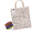 CJB018 _ Kids colouring small handle carry bags