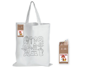 CJB019 - Kids Long handle colouring shopping bags