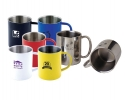 Metal coffee cups