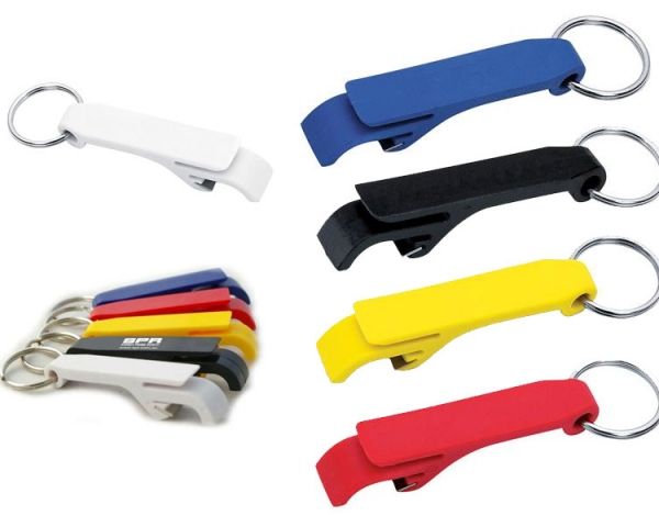 Plastic flip top bottle openers