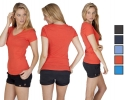 V Neck Promotional Ladies t shirts
